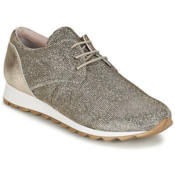 Schuhe Damen Sneaker Low Tosca Blu DERZE Silbern / Gold