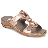 Schuhe Damen Pantoffel Ara AGLIMELLE Gold / Rose