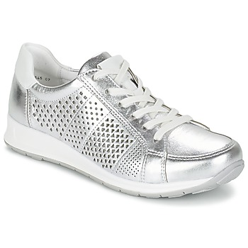 Schuhe Damen Sneaker Low Ara CHEVOK Silbern
