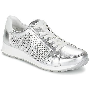 Schuhe Damen Sneaker Low Ara CHEVOK Silbern