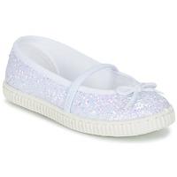 Schuhe Mädchen Ballerinas Chipie SALSABA Glitterfarbe / Weiss