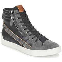 Schuhe Herren Sneaker High Diesel D-STRING PLUS Schwarz / Grau