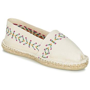 Schuhe Damen Leinen-Pantoletten mit gefloch 1789 Cala CLASSIQUE Naturfarben
