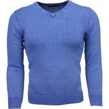 Kleidung Herren Pullover Tony Backer Exclusive VHals Blau