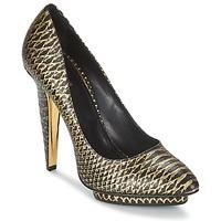 Schuhe Damen Pumps Roberto Cavalli YDS622-UC168-D0007 Schwarz / Goldfarben