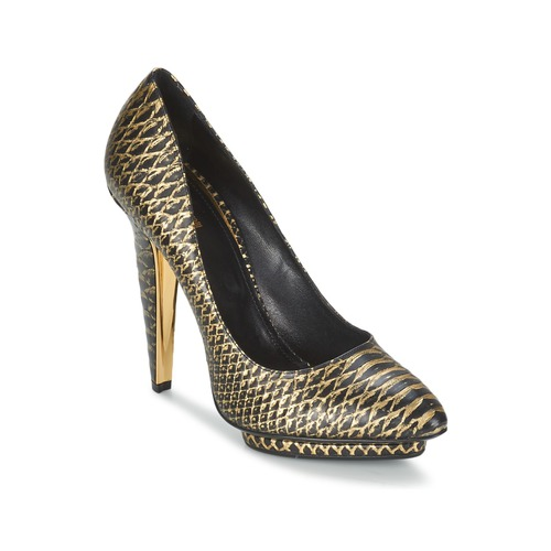 Roberto Cavalli YDS622-UC168-D0007 Schwarz   Goldfarben  Schuhe Pumps Damen