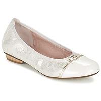 Schuhe Damen Ballerinas Dorking TELMA Silbern / Beige