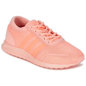 Schuhe Mädchen Sneaker Low adidas Originals LOS ANGELES J Korallenrot