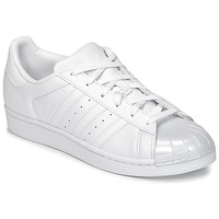 Schuhe Damen Sneaker Low adidas Originals SUPERSTAR GLOSSY TO Weiss