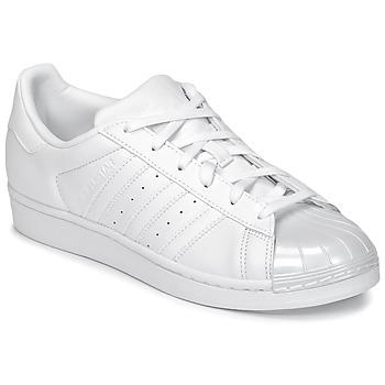 Schuhe Damen Sneaker Low adidas Originals SUPERSTAR GLOSSY TO Weiss