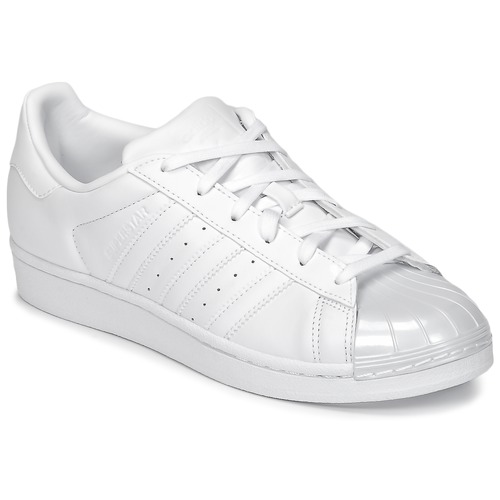 Adidas Originals Damen Superstar Glossy Toe Sneaker Weiß