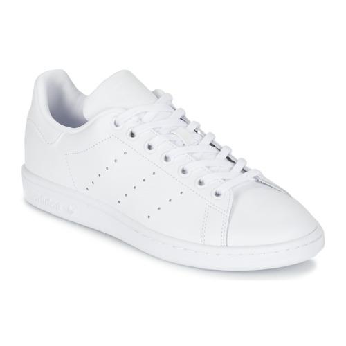Schuhe Kinder Sneaker Low adidas Originals STAN SMITH J Weiss