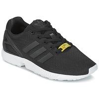Schuhe Jungen Sneaker Low adidas Originals ZX FLUX J Schwarz