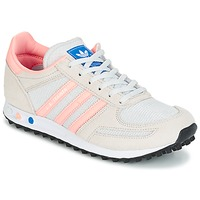 Schuhe Kinder Sneaker Low adidas Originals LA TRAINER J Weiss / Rose