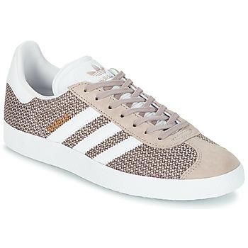 Schuhe Damen Sneaker Low adidas Originals GAZELLE W Grau