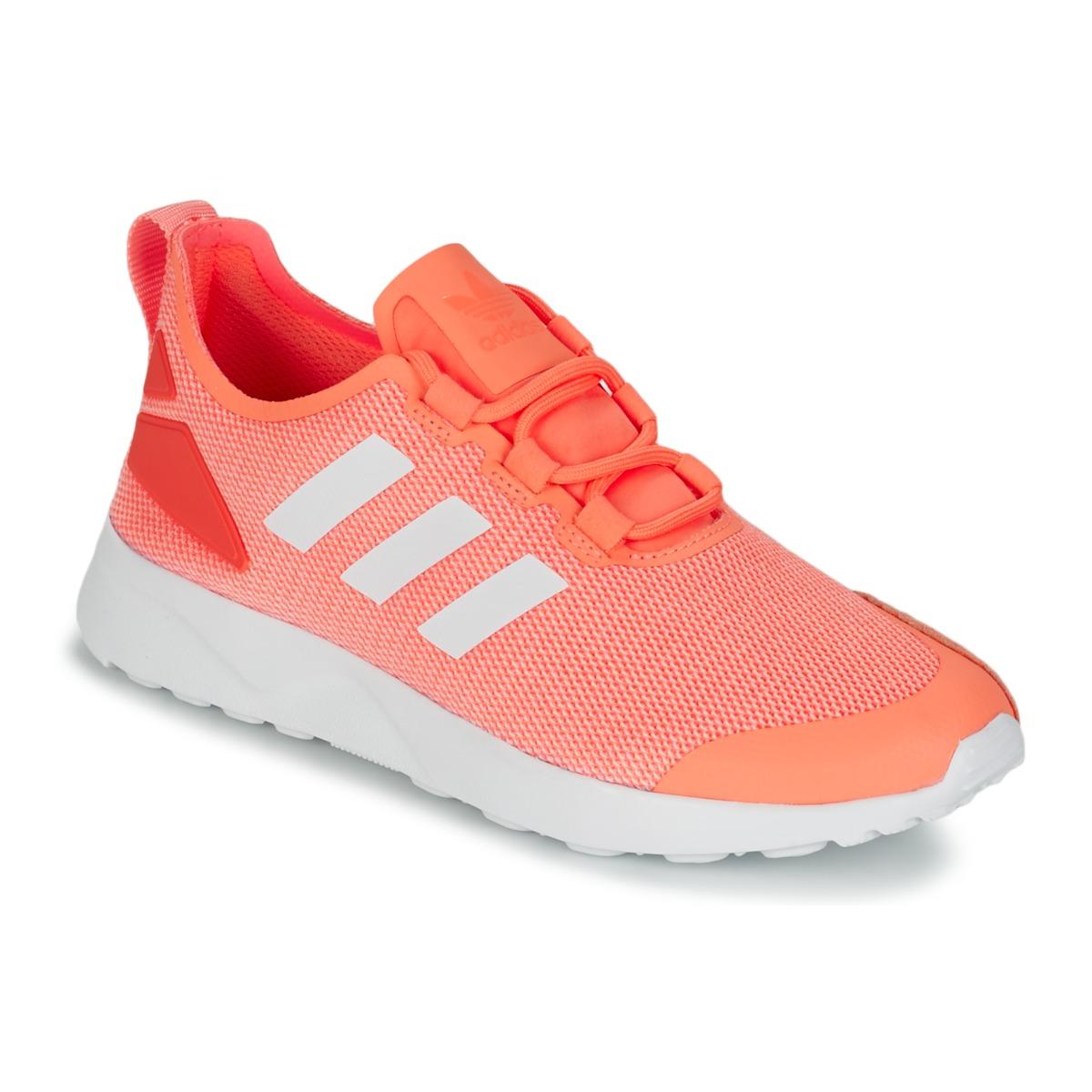 adidas Originals ZX FLUX ADV VERVE W Crème / gelb / Leuchtend - Kostenloser Versand bei Spartoode ! - Schuhe Sneaker Low Damen 55,00 €