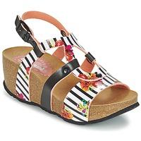 Schuhe Damen Sandalen / Sandaletten Desigual BIO 9 FLORES Schwarz / Weiss
