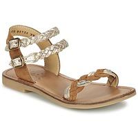 Schuhe Mädchen Sandalen / Sandaletten Shwik LAZAR WOWO Camel / Gold