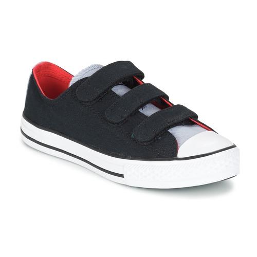 Schuhe Jungen Sneaker Low Converse CHUCK TAYLOR ALL STAR 3V SPRING FUNDAMENTALS OX Schwarz / Blau / Weiss