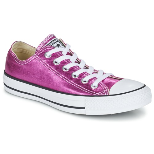 Schuhe Damen Sneaker Low Converse CHUCK TAYLOR ALL STAR SEASONAL METALLICS OX Rose