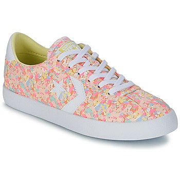 Schuhe Damen Sneaker Low Converse BREAKPOINT FLORAL TEXTILE OX Rose / Weiss