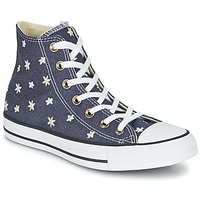 Schuhe Damen Sneaker High Converse CHUCK TAYLOR ALL STAR DENIM FLORAL HI Marine / Gelb / Weiss