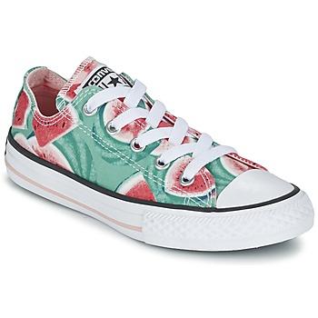 Schuhe Mädchen Sneaker Low Converse CHUCK TAYLOR ALL STAR WATERMELON OX Grün / Rot / Weiss