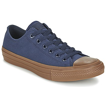 Schuhe Herren Sneaker Low Converse CHUCK TAYLOR ALL STAR II TENCEL CANVAS OX Marine / Braun