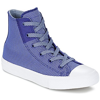 Schuhe Kinder Sneaker High Converse CHUCK TAYLOR ALL STAR II BASKETWEAVE FUSE TD HI Indigo / Blau / Weiss