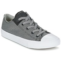 Schuhe Kinder Sneaker Low Converse CHUCK TAYLOR ALL STAR II BASKETWEAVE FUSE TD OX Grau / Weiss