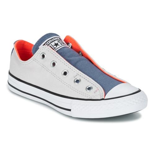 Schuhe Kinder Sneaker Low Converse CHUCK TAYLOR ALL STAR SLIP SUMMER FUNDAMENTALS SLIP Grau / Blau / Orange
