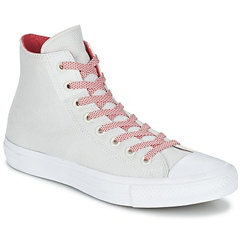 Schuhe Sneaker High Converse CHUCK TAYLOR ALL STAR II BASKETWEAVE FUSE HI Naturfarben / Weiss / Rot