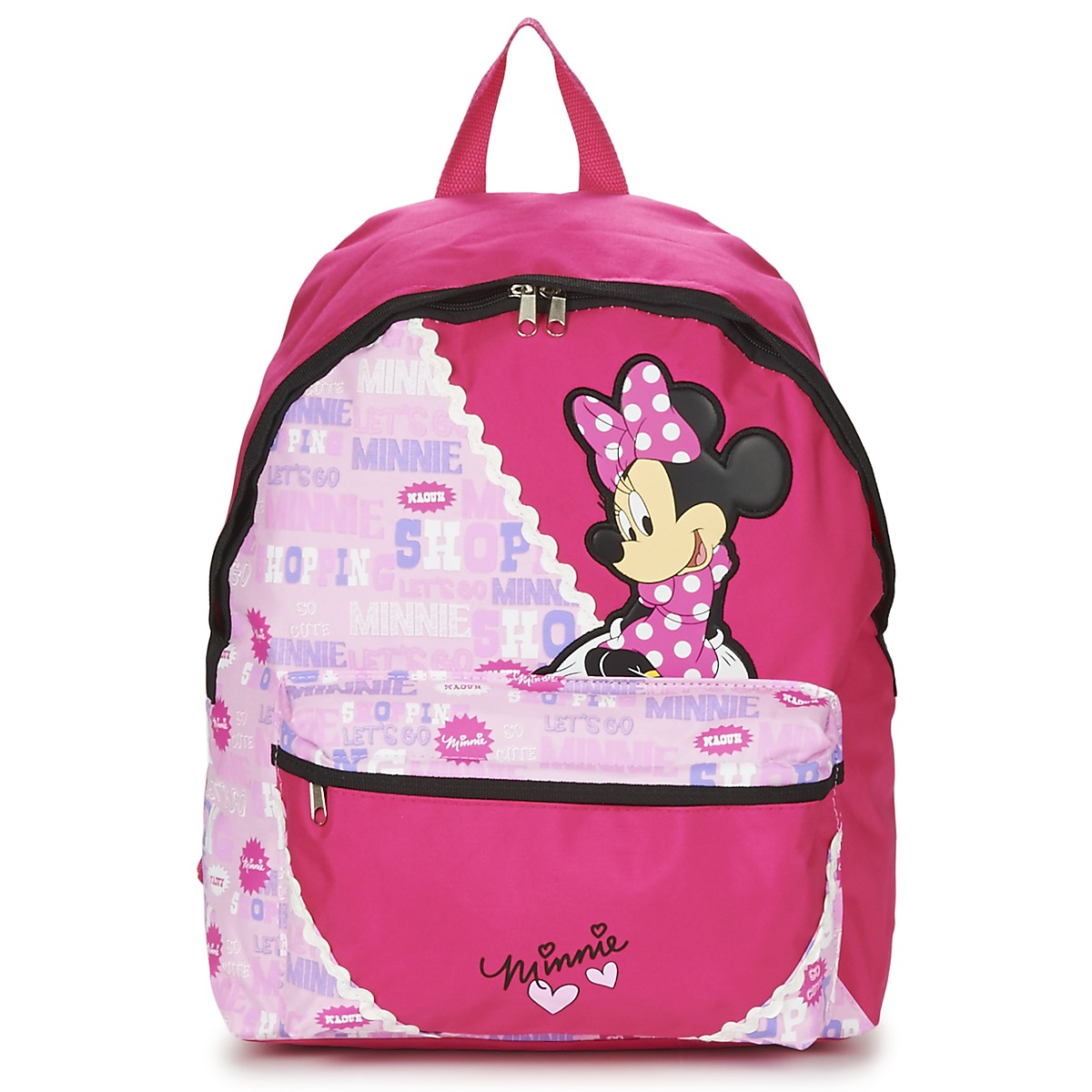 Disney MINNIE SCRATCH DOTS SAC A DOS BORNE Rot / Rose