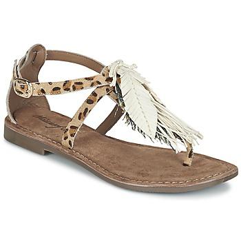 Schuhe Damen Sandalen / Sandaletten Metamorf'Ose ZABOUCHE Braun / Weiss