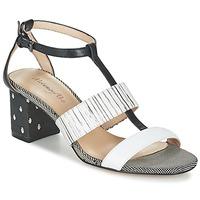 Schuhe Damen Sandalen / Sandaletten Metamorf'Ose ZAFNOLO Schwarz / Weiss
