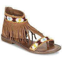 Schuhe Damen Sandalen / Sandaletten Metamorf'Ose ZACCIN Braun