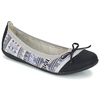 Schuhe Damen Ballerinas Les P'tites Bombes CAPRICE Grau / Schwarz