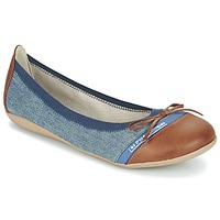 Schuhe Damen Ballerinas Les P'tites Bombes CAPRICE Blau / Camel