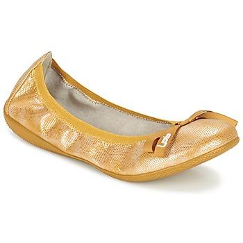 Schuhe Damen Ballerinas Les P'tites Bombes ELLA Gelb