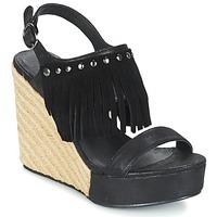 Schuhe Damen Sandalen / Sandaletten Les Petites Bombes SABINE Schwarz