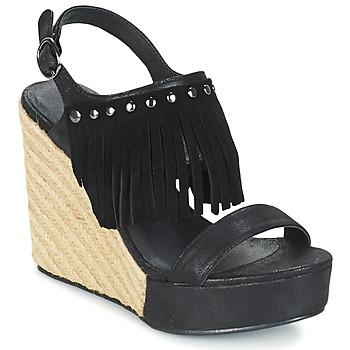 Schuhe Damen Sandalen / Sandaletten Les P'tites Bombes SABINE Schwarz