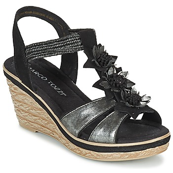 Schuhe Damen Sandalen / Sandaletten Marco Tozzi CHAVELA Schwarz