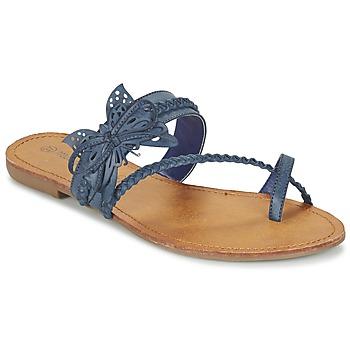 Schuhe Damen Zehensandalen Moony Mood ELIANA Blau