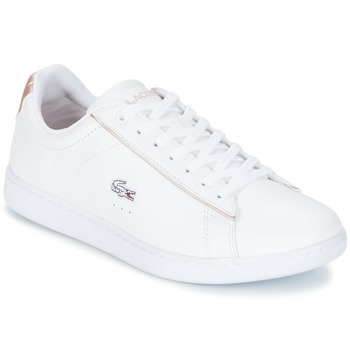 Schuhe Damen Sneaker Low Lacoste CARNABY EVO 217 2 Weiss / Rose