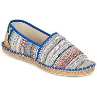 Schuhe Damen Leinen-Pantoletten mit gefloch Art of Soule BOHEMIAN Blau