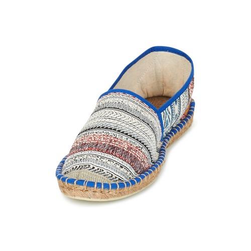 Art of Soule BOHEMIAN Blau  Damen Schuhe Leinen-Pantoletten mit gefloch Damen  55,99 240405