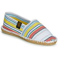 Schuhe Damen Leinen-Pantoletten mit gefloch Art of Soule RAYETTE Weiss