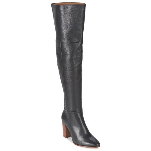 Schuhe Damen Kniestiefel Fericelli NIRI Schwarz