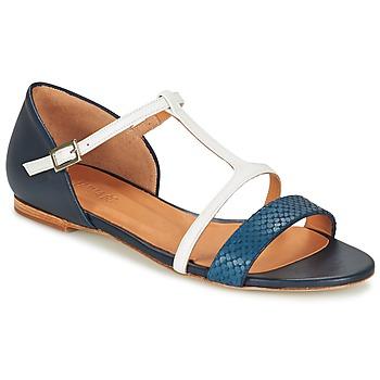 Schuhe Damen Sandalen / Sandaletten Emma Go KEIRA Marine / Weiss
