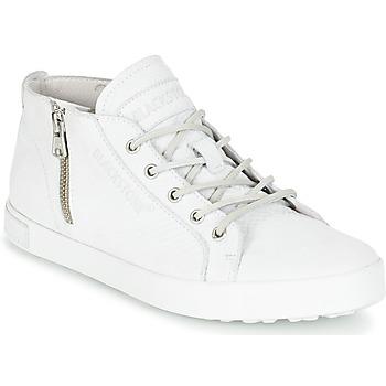 Schuhe Damen Sneaker High Blackstone NL35 Weiss